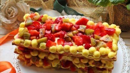 Millefoglie con fragole e kiwi: il dolce gustoso alla frutta e crema pasticcera