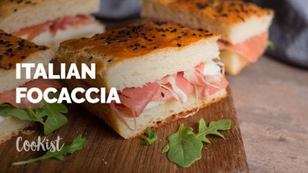 Focaccia sandwich: how to make it at home step by step!