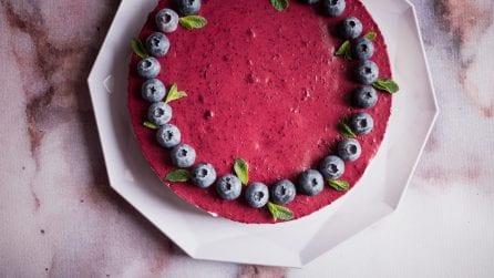 Cheesecake ai mirtilli: un dessert fresco e gustoso senza l'uso del forno!