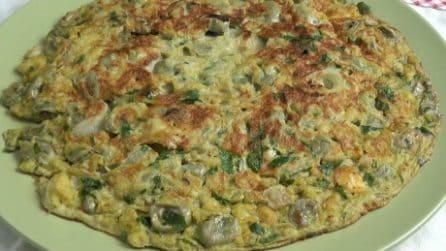 Frittata di fave e formaggio: il secondo piatto che accontenterà tutti