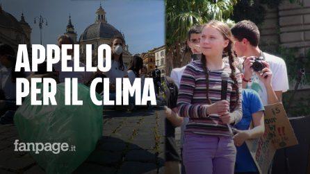"""Greta a Roma, i giovani attivisti: """"Politici che negano cambiamenti climatici cancellano il futuro"""""""