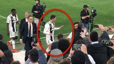 Scudetto Juventus, telecamere puntate su CR7 al triplice fischio