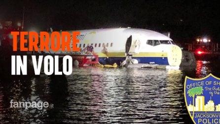 Boeing 737 esce fuori dalla pista e precipita nel fiume: a bordo 143 passeggeri