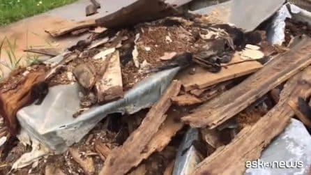 Seniga, ossa umane e resti di bare abbandonati vicino al cimitero