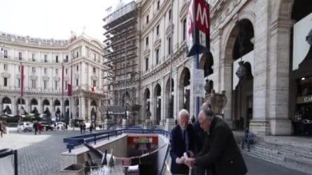 """I """"festeggiamenti"""" dei commercianti per i sei mesi di chiusura della metro Repubblica"""