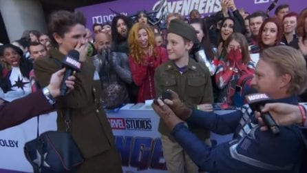 La romantica proposta di matrimonio sul Red Carpet di Angers Endgame