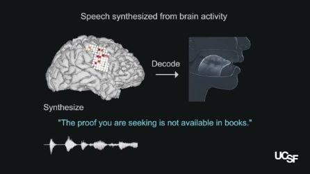 Dispositivo fa parlare chi ha perso la voce leggendo l'attività del cervello