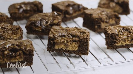 Peanut butter brownies: you get the best of both worlds in one yummy bite!