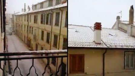 Drastico calo delle temperature: è il 29 aprile ma sta nevicando in Molise