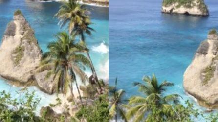 Una spiaggia paradisiaca che nasconde una triste verità: le immagini scioccanti