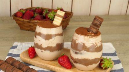 Mousse bicolore al cioccolato: avrete bisogno di solo 4 ingredienti!