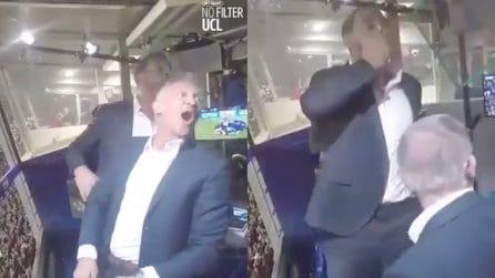 Messi segna contro il Liverpool, Rio Ferdinand esulta e sembra non crederci