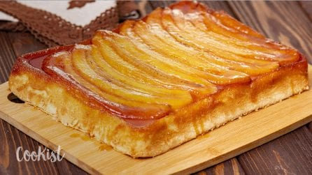 Upside down banana cake: it takes one bowl and only 1 hour to make!