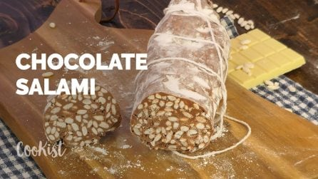 Chocolate salami: it doesn't require cooking and its preparation is super easy!