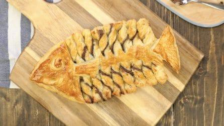 Pesce di pasta sfoglia e cioccolato: un'idea simpatica e molto originale!