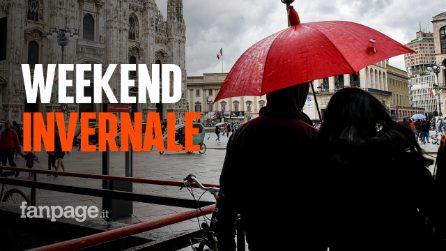 Weekend con il maltempo: in arrivo pioggia freddo e neve su tutta l'Italia