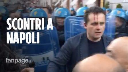 Napoli, corteo anti Salvini: la polizia carica i manifestanti