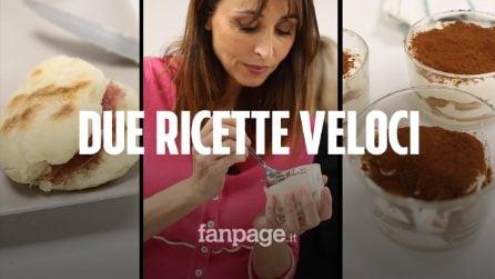 Abbiamo cucinato con Benedetta Parodi: la ricetta veloce del tiramisù senza uova e delle tigelle