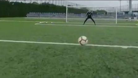 Telecamera montata sulla testa di Messi: le bellissime immagini in soggettiva
