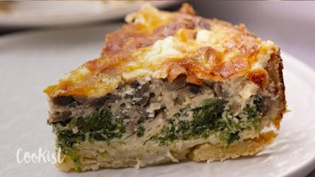 Mushroom quiche: delicious, satisfying and simple to make!