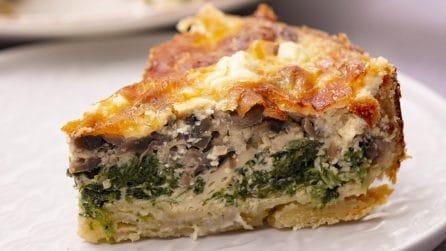 Quiche ai funghi e spinaci: la torta salata facile da preparare e piena di sapore!