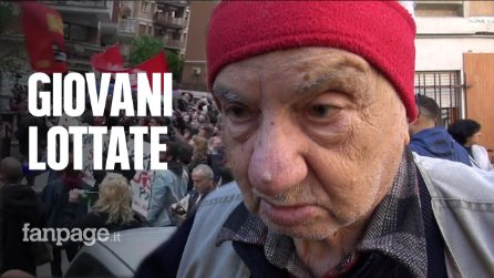 """Pino, il partigiano di Casal Bruciato che ha suonato Bella Ciao: """"Giovani, lottate senza violenza"""""""