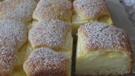 Torta magica alla crema: bella, veloce e golosissima