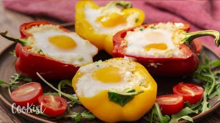 Stuffed bell peppers: a yummy main dish ready in no-time!