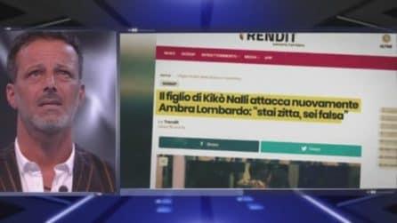 """Grande Fratello 2019, Kiko Nalli al figlio Francesco: """"Parleremo insieme di Ambra Lombardo"""""""