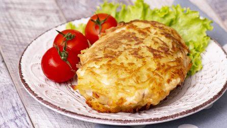 Petto di pollo in crosta di patate: morbido dentro e croccante fuori!