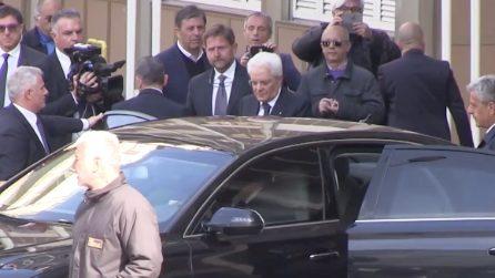 Napoli, il presidente Mattarella visita Noemi, la bimba ferita da un proiettile