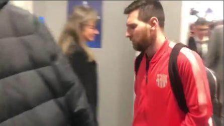 Leo Messi lascia Anfield: tutta la delusione dell'argentino