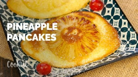 Pineapple upside down pancakes: they are easier to make than traditional ones!