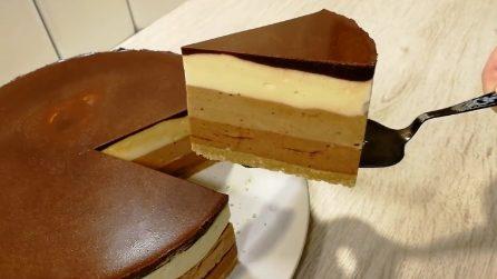 Torta mousse a tre strati: un triplice gusto che vi delizierà