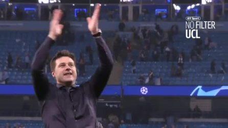 Il coro dei tifosi del Tottenham a Mauricio Pochettino dopo l'impresa in Champions League