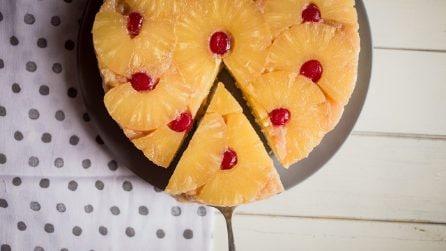 Torta rovesciata all'ananas e caramello: una torta semplice e facile da preparare!