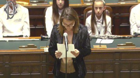 """""""Valori civili attaccati anche da chi governa"""": il discorso di Francesca alla Camera"""