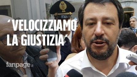 """Salvini a Napoli: """"Noemi è una leonessa, onore a chi ha arrestato questi delinquenti"""""""
