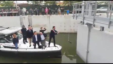 Inaugurazione del canale: clamorosa gaffe del sindaco di Pisa