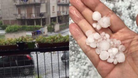 Maltempo Pavia: i chicchi di ghiaccio grandi 2 centimetri