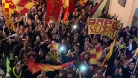 Lecce in serie A ma i tifosi non dimenticano Chevanton: il coro durante i festeggiamenti