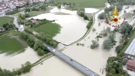 Maltempo Emilia Romagna, esonda il fiume Savio: le immagini dall'alto
