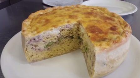 Torta di tagliolini e asparagi: perfetta da condividere in famiglia