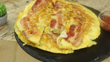Frittata al bacon: facile e gustosa!