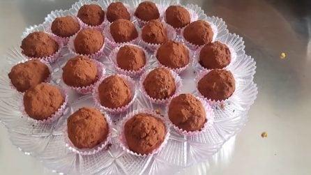 Praline croccanti al cacao: il dolce che non necessita di cottura