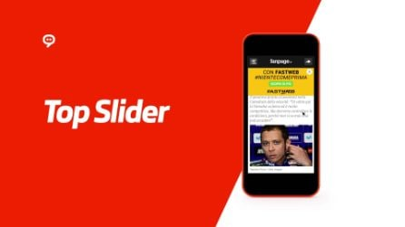 Top Slider Mobile per Fastweb