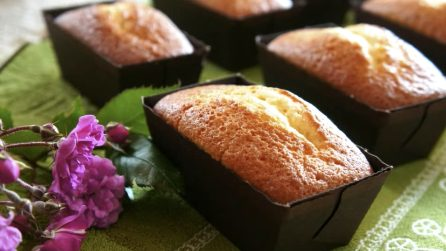 Mini plumcake allo yogurt: la merenda soffice e genuina