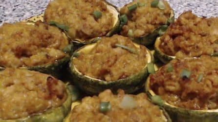 Zucchine tonde ripiene: ideali come contorno o secondo piatto