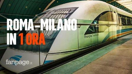 Dalla Cina arriva il treno del futuro: sarà in grado di percorrere Milano-Roma in meno di 1 ora