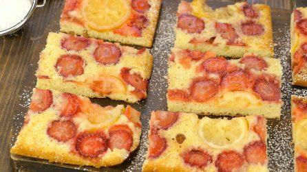 Torta fragole e limone: così bella che non vedrete l'ora di prepararla!